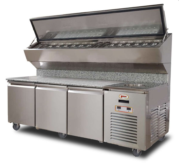 Marsal Pizza Ovens Refrigerated Pizza Prep Tables